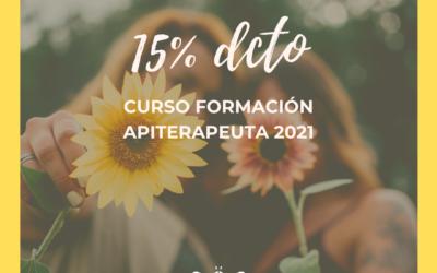 15% DCTO EN CURSO DE APITERAPEUTA 2021 PARA LAS MUJERES EN SU MES